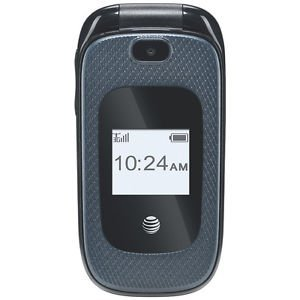 AT&T GoPhone Flip Cell Pnone No-Contract Cell Phone Z222 Dark Blue