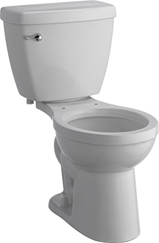 Delta Faucet C01905-WH Haywood Comfort Height Round 1.28 GPF Toilet, White