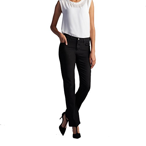 Fit Straight Leg Stretch Jeans - LEE Women's New Relaxed Fit Straight Leg Stretch Jean, Black Onyx - 20 x M