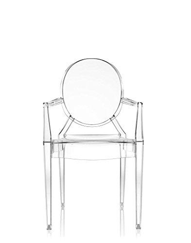 Original Kartell Louis Ghost Arm Chair, Crystal