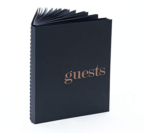Photo Guest Book for Wedding Guest Book 8.5x7 Black Guest Book Black Pages Guestbook Poloroid Guest Book Alternatives Wedding Guestbook Photo Booth Props Wedding Instax Guest Book (LP Black/Gold)