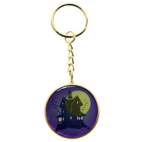 Halloween Haunted Mansion Split-Ring-Keychain