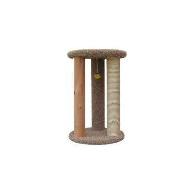 New Cat Condos Premier Round Multi Scratcher, Gray