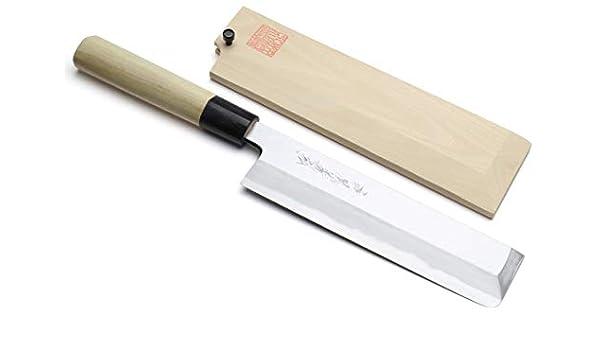 Yoshihiro Kasumi Edo de alto carbono Usuba para verduras ...
