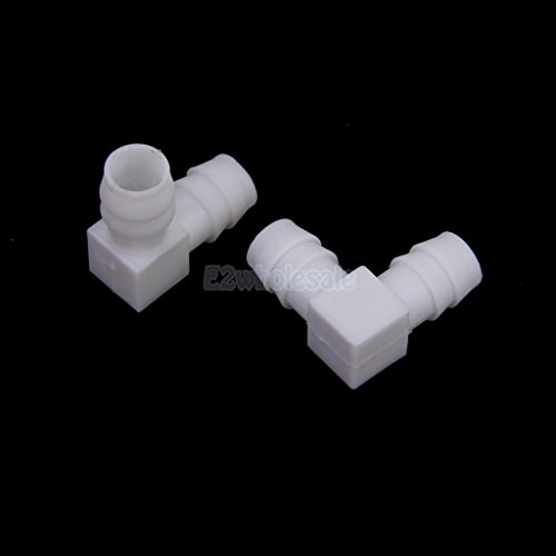 2pcs 12mm Equal Elbow Connector Aquarium Tank Water Hose Pipe Tube Joiner DIY