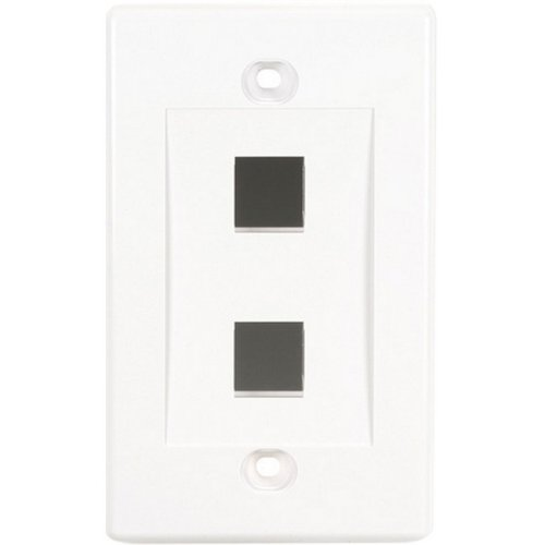 Black N White Faceplates - Black Box Value Line Wallplate Single. Gang 2. Port White . 2 Socket(S) . 1. Gang . White