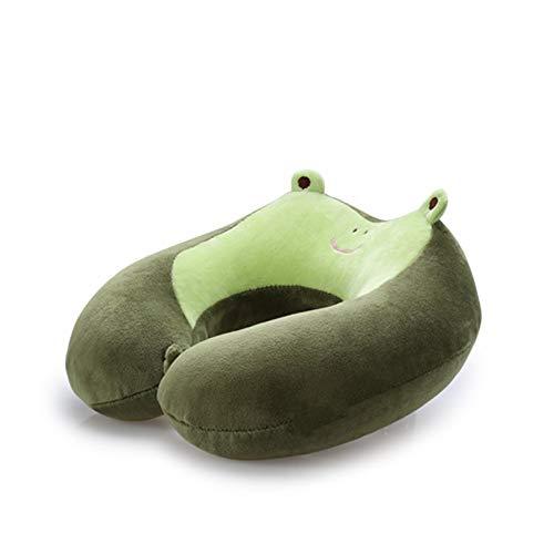 MUTANG Almohada en forma de U de algodón con memoria en forma de U, Almohada para cuello para viajes en avión, Almohada con...