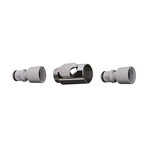 Hansgrohe 28346000 Quick Connect Snap On Connector Set, Chrome ()