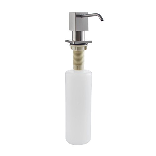 Square Dispenser Steel Stainless Soap (KES Lotion/Soap Dispenser with SUS 304 Stainless Steel Pump and PP Bottle Square Style Brushed Finish, PSD5-2)