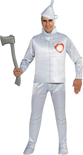 Wizard Of Oz Tin Man Costumes (Rubie's Wizard Of Oz 75th Anniversary Edition Adult Tin Man, Silver, One Size)