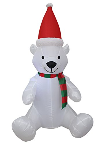 Outdoor Lighted Polar Bear Decorations - 2