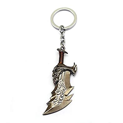 Amazon.com: Mixed Game God Of War Keychain Kratos Weapon ...