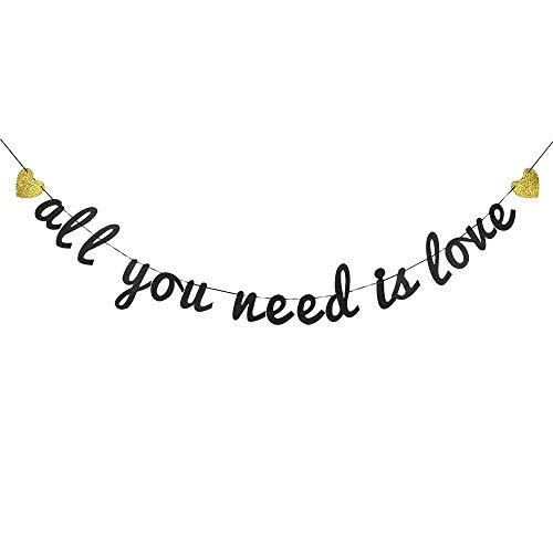 Glitter All You Need is Love Banner, Love