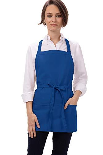 Chef Works Unisex Three Pocket Apron, Royal 24-Inch Length by 28-Inch Width