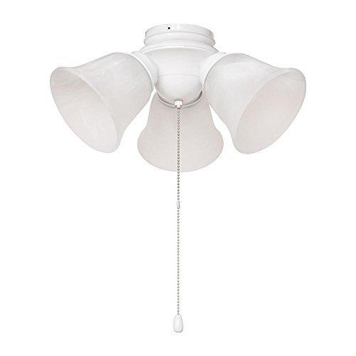 Hampton Bay 3-Light White Alabaster Glass LED Ceiling Fan Light Kit