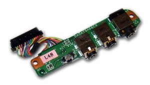 HP Pavilion DV9000 Audio Board Jack W/cable DA0AT5AB8D0 32AT5AB0002 Dv9000 Audio