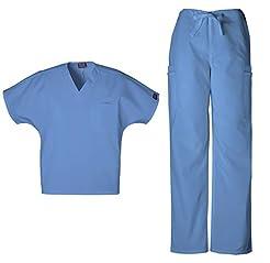 Cherokee Mens Workwear Scrub Set Medical...