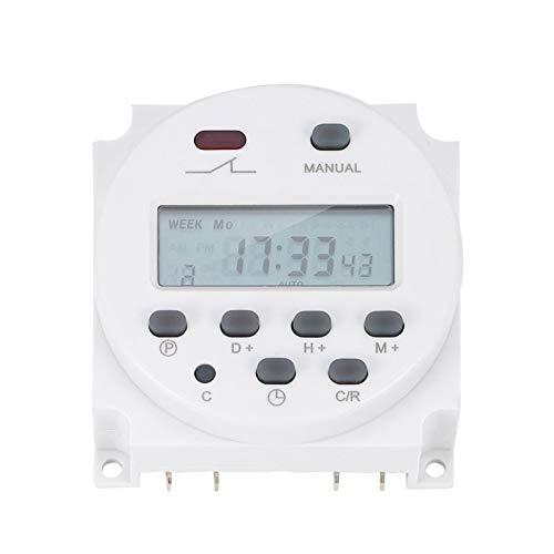 Vinkent Profesional LCD Electrónico Potencia digital Tiempo programable 16A 4.4VA Interruptor de relé de tiempo EN60730-1