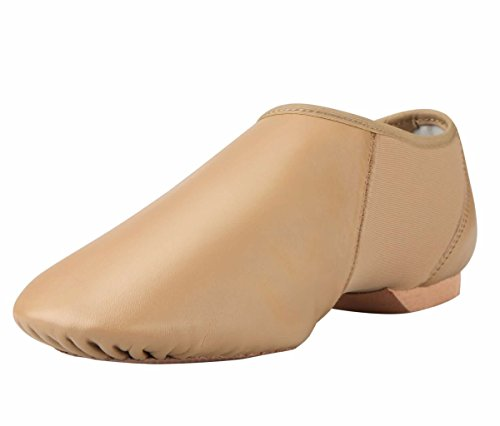 ARCLIBER Adults Brown Leather Jazz Dance Shoe 7.5M US -