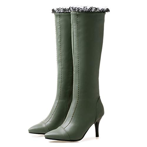 Verde Clásicas De Aiyoumei Sintético Botas Mujer wpTXYqZ1