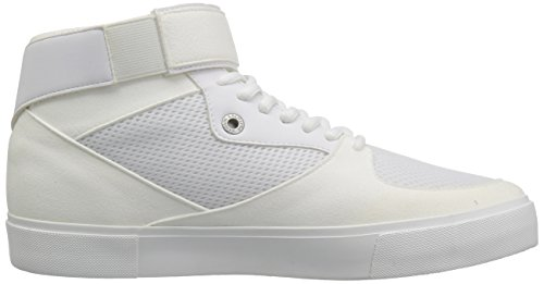 High and Detail Top Armani X A with Exchange 9550337A047 Ankle Mens Bianco Strap Sneaker Mesh 4wnAXxnP