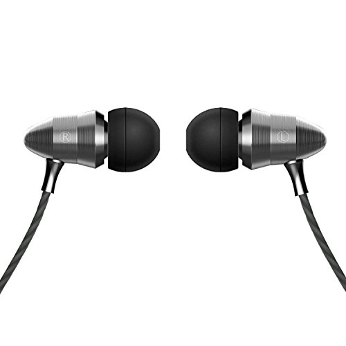 In-Ear Earbuds Headphones with Super Bass Mic Noise Cancelling HIFI DJ Professional Monitor Metal Wired Earphones for Android IPhone Universal 3.5MM - Gray