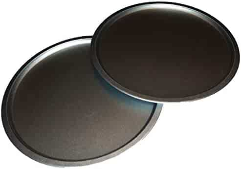 Italian Cooking Concepts TWO 12 inch Pizza Pans for baking Pizzas, cookies or Biscuits