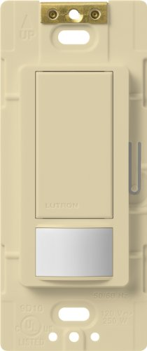 (Lutron Lutron MS-OPS6M2-DV-IV Maestro 6-Amp Multi-Location Dual Voltage Occupancy Sensing Switch, Ivory)