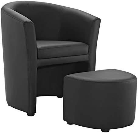 Hawthorne Collections Faux Leather Accent Chair