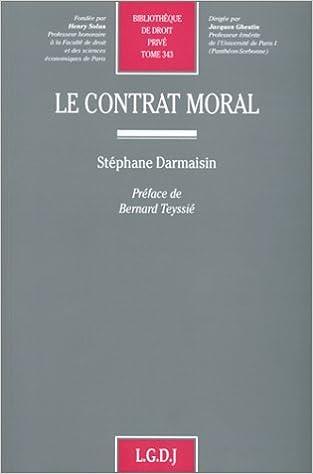 Télécharger en ligne Le contrat moral pdf