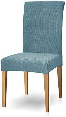 subrtex - Juego de 4 Fundas elásticas para sillas de jardín (Lavables), Azul Claro, 4 Unidades: Amazon.es: Hogar