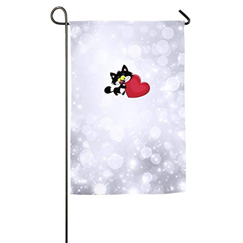 Buecoutes Black Cat Love Home Family Party Flag 100 Hipster Welcomes The Banner Garden Flags