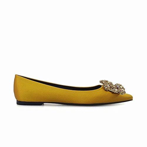 Mujer Temperamento Zapatos Diamantes Baja Salvaje segundo Boca 36 De Bajo Tacón Dhg Agudo qwOEFUx0E