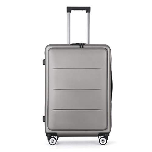 ビジネストロリーケース、アルミフレーム荷物、ライトボーディングケース、スーツケース学生トロリーケース B07TFH5B9M Gray 20inche:49*35*21cm