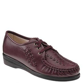 Softspots Women's Bonnie Lite Shoes,Wine,12 B(M) US
