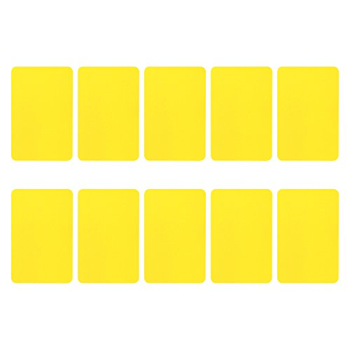 YH Poker Lot of 10 Bride Size Cut Cards,Yellow (Cut Card)