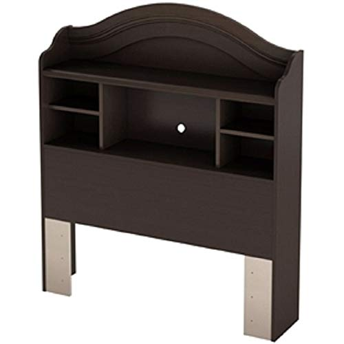 Twin Size Arch Top Bookcase Headboard in Chocolate Finish New Sturdy Classic Elegant Furniture CHOOSEandBUY