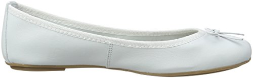 Donna Bianco Leather White Tamaris 22165 Ballerine 1qT60Et