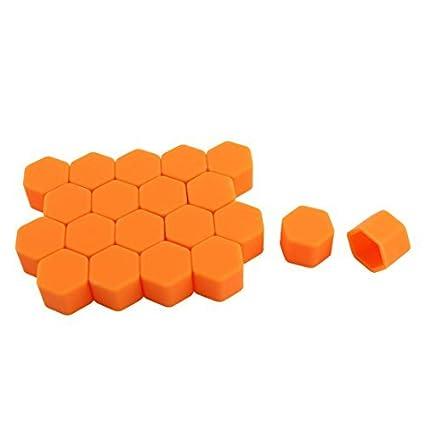 Amazon.com: eDealMax 20 piezas de neumáticos de coches Naranja ruedas de silicona Tapones: Automotive