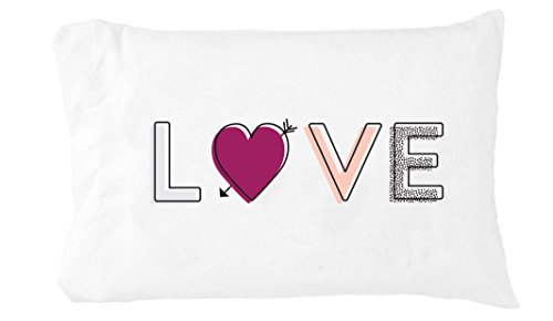Oh, Susannah Love Multicolored Pillowcase (One 14x20.5 Toddler Size Pillow Case) Couples Gifts for Her - Wedding Decoration Birthday Present Girlfriend Gifts