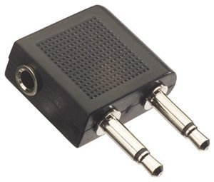 EarHugger Airline Adaptor EHA-18 - Audio adapter - mini-phone mono 3.5 mm (M) - mini-phone stereo 3.5 mm (F)