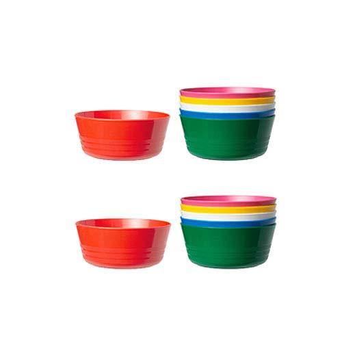 IKEA - KALAS Children Color Bowls (2 SETS OF 6) - TOTAL 12 BOWLS