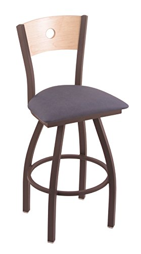 Holland Bar Stool Co. XL 830 Voltaire Bronze Swivel Counter Stool with Natural Maple B Back, Rein Bay For Sale