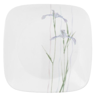 Corelle Square 8-3/4-Inch Luncheon Plate, Shadow Iris