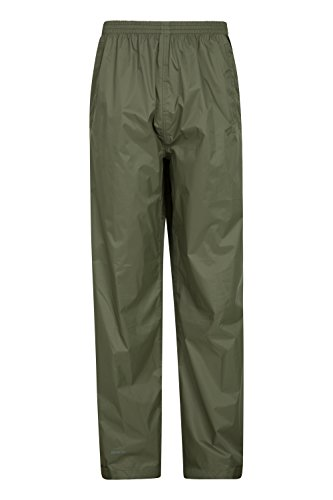 Mountain Warehouse Pakka Mens Rain Pants - Waterproof Over Trousers Black Large