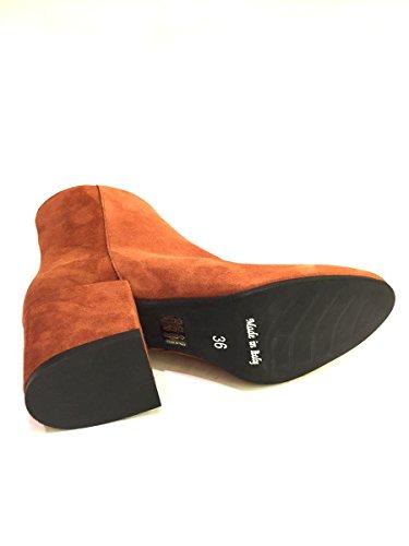scamosciata MIN1710 Stivaletti Cuoio pelle 46 MainApps shoes in zeta ISWqzax
