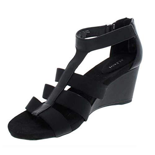 Alfani Womens Pearrl Open Toe Casual Strappy Sandals, Black, Size 8.0