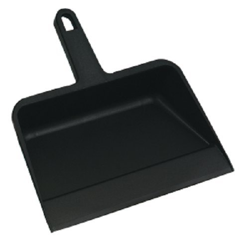 Tolco 280169 Plastic Dust Pan 12'', 11.75'' Height, 4  '' Width, Black (Pack of 30)