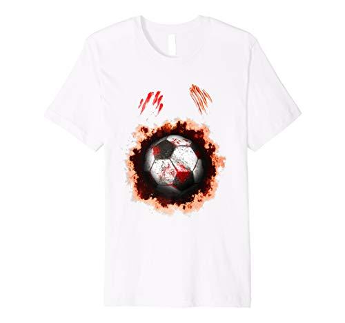 Halloween Zombie Soccer Player, Football Zombie Ball Gift Premium T-Shirt -