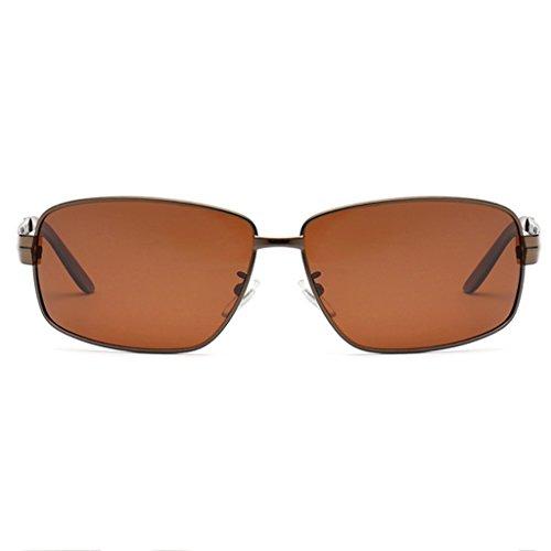 Brass Negro de TP Rectangular Hombres Frame Sol UV MG 100 Color Gafas los aleación Polarized conducción Al de Superlight de UqnBHrU